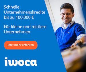 iwoca kurzfristiger Firmenkredit für Kleinunternehmen und Selbständige: Jetzt kostenloses Angebot einholen (hier klicken)!